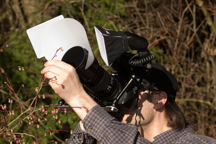 Mike with his macro rig...I will have to link to his pics if he gets them online...